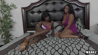 Fine-Ass Black Bitches Share Intimate Lesbian Sex