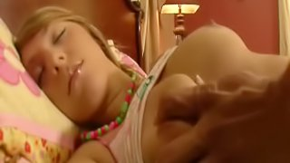 Cute Blonde Teen Fits An Entire Hard Cock In Her Mouth While Sleeping