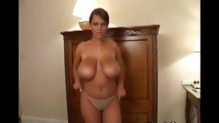 Milf dancing with her huge tits
