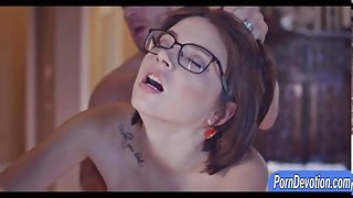 Young wife Marina Visconti hard pounded in the bedroom
