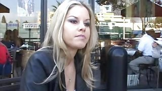 Beautiful Shawnie looked so bored at the coffee shop