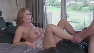A guy gets to bang his best friend's busty, hot mom