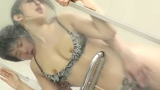 Miyazawa Suzu bends over for a hot fuck in a shower with a man