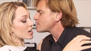 A blonde is getting fucked and she is also getting her pussy licked