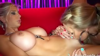 Champagne Room Public Pussy Licking & Fucking with Nicole Aniston!