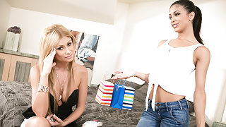 Veronica Rodriguez & Lisa Daniels in Too Old For Allowance Video