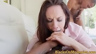 Chanel gets taken by 2 black dicks.