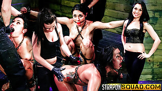 Slutty Slave Isa Mendez Gets Dominated and Used by Lexy Villa and Brooklyn Daniels - StrapOnSquad
