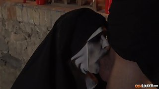 Zombie nun gets her juicy ass hammered down