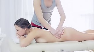 Massaging her body and fucking her deep