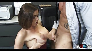 Office Slut In Black Stockings Fucked Krissy Lynn