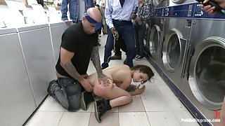 French Beauty Anally Fucked in Public