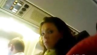 Cock Flashing For Her While On A Plane