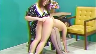 Little Asian Girl Spanked and Tickled