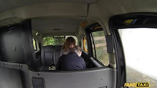 Lola in Red head with nice natural tits does anal - FakeTaxi