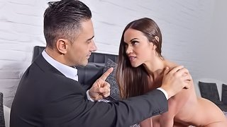 Small-tit angel Alyssa Reece likes his hard dick so freaking much
