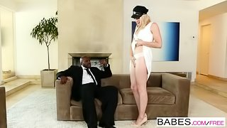 Black is Better - Sexy blonde teen Lily Lebeau sucks her drivers black coc