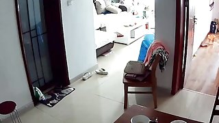 voyeur through web cam - woman with huge tits at home.mp4