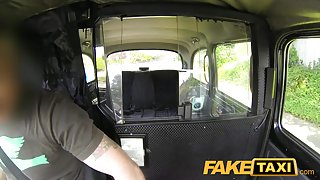 FakeTaxi: Curly ginger twat struggles with large dick