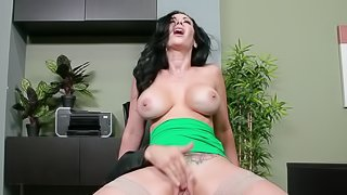 Gorgeous Jayden Jaymes gets fucked on her work table