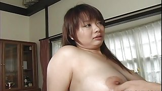 Asian busty bitch gets her hairy muff filled up