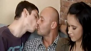 Bisexual Couple With Horny Boy