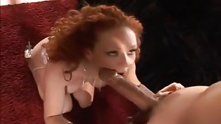 Nasty Redhead Stretches Ass And Pussy
