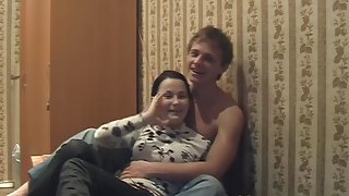 Vika in endowed dude fucking a chick in a homemade porn