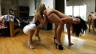These ladies learn all they want about ass play and torture at Sheena School