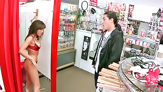 Wicked brunette Capri gets fucked by a horny Asian guy