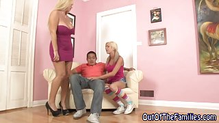 Real stepmom shares dick with stepteen