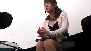 Busty Japanese gets a load in spy cam hardcore sex video