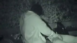 Two teens have sensual first time sex in the park at night