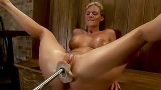 Masturbation queen Phoenix Marie is in oiled up synthetic love