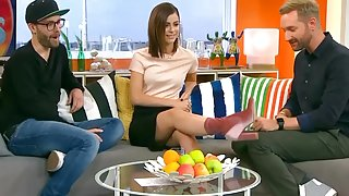 Lena Meyer Landrut Upskirt Black Mini German TV Show Oops