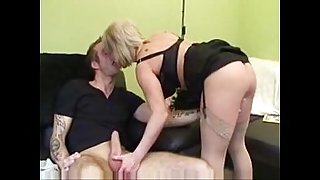 British blond mom fucked by son
