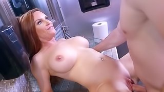 Stunning porn scenes with a greedy hot mom in heats