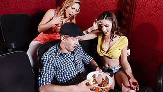 Cherie Deville & Molly Jane & Danny D in A Movie Date Dicking - Brazzers