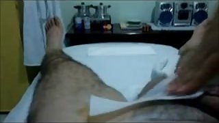 Handjob after waxing cock