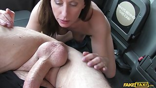 Lara in Wife set up for taxi fucking - FakeTaxi