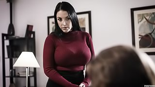 Two busty beauties Jay Taylor and Angela White are enjoying DP sex