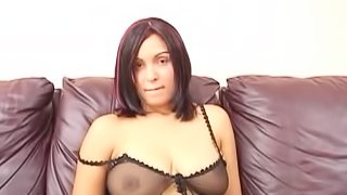 Stephanie Smith blows, then gets fucked from behind and facialed