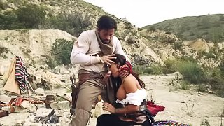 Wonderful outdoor sex scene of cowboy and perfect cowgirl