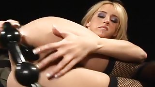 Petite Blonde Cutie And Her Rubber Toy