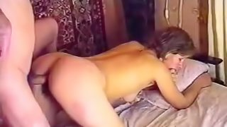 Brunette GF with blonde wig loves being a sexual object