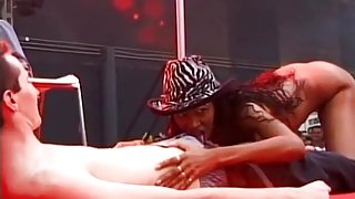 Naughty Black Babe Gets Freaky On Stage