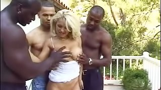 Hot interracial gangbang video with sexy Vivian Valentine