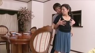 Hot oral sex with a gorgeous Japanese milf