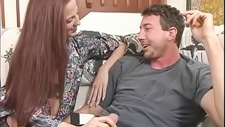 Hot bisexual hos in FFM threesome muff diving while getting screwed