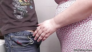 BBW tourist picked up and fucked in the public restroom